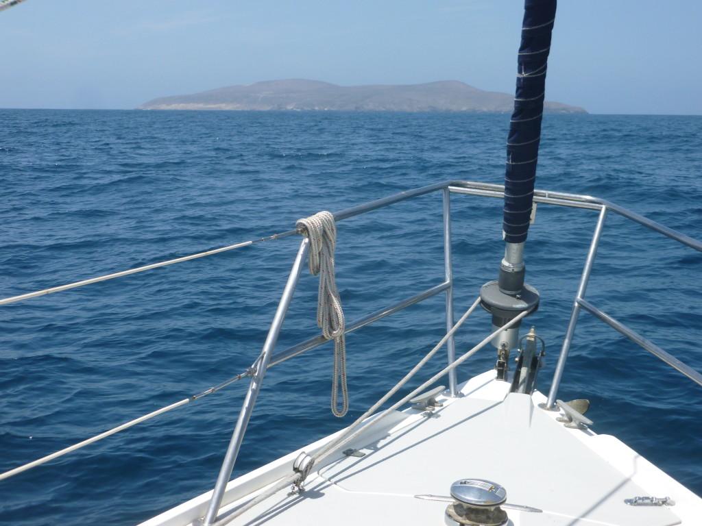 Approaching Santa Barbara Island from Catalina.