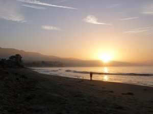 Sunrise at Butterfly Beach