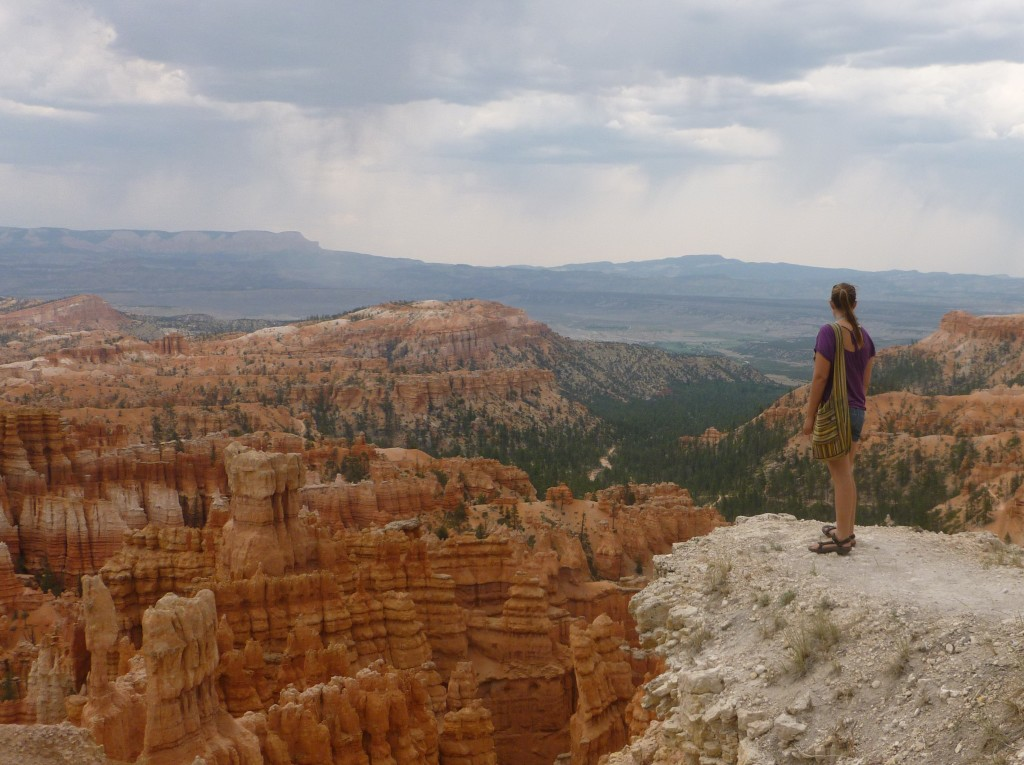 Looking into Bryce Canyon