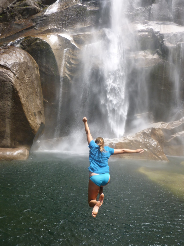 Jumping into Vernal Falls