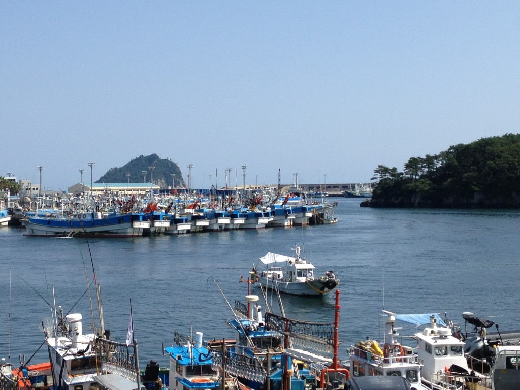 Fishing boats in Seogwipo Harbor