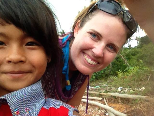 Cambodian girl takes a selfie
