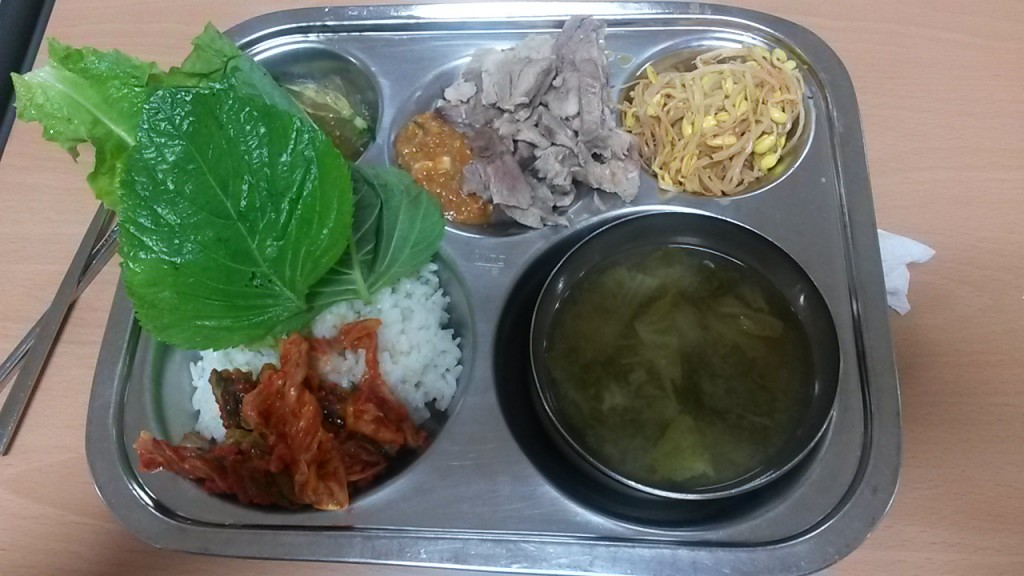 Tuesday's lunch at my Korean Elementary School.