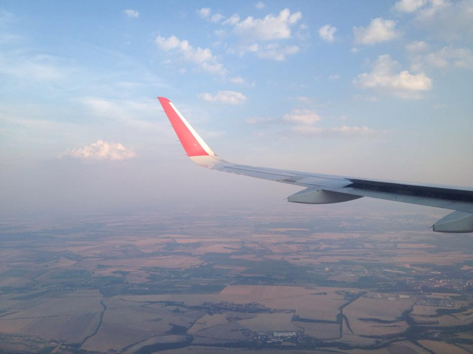Flying into Prague