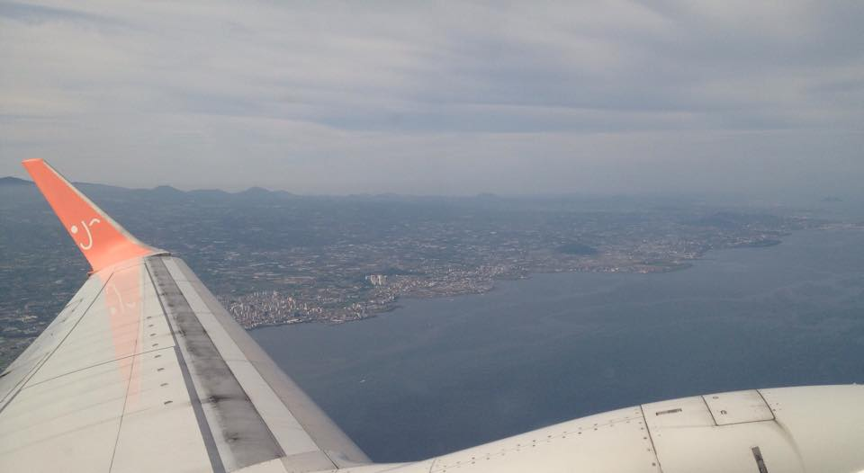 Jeju Island from the plane