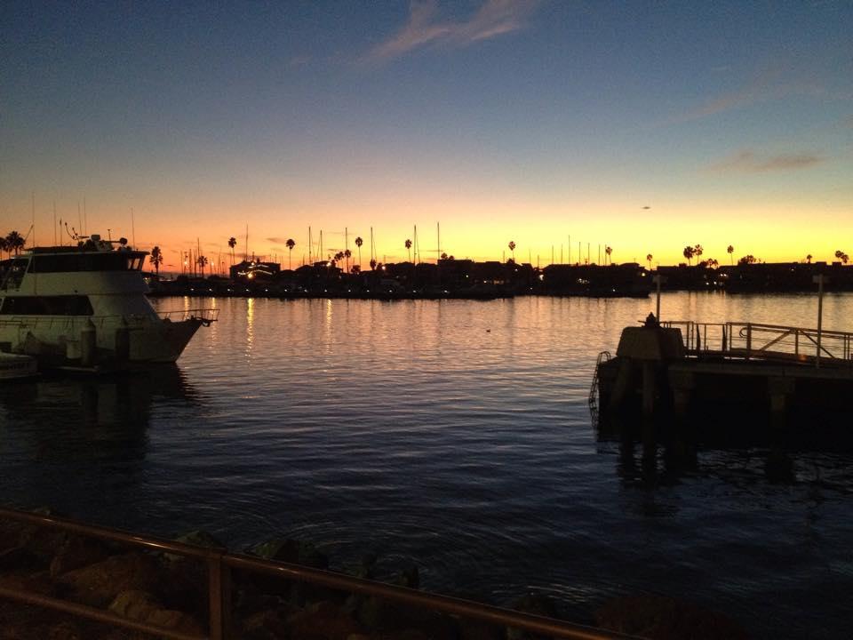 Alamitos Bay at sunset