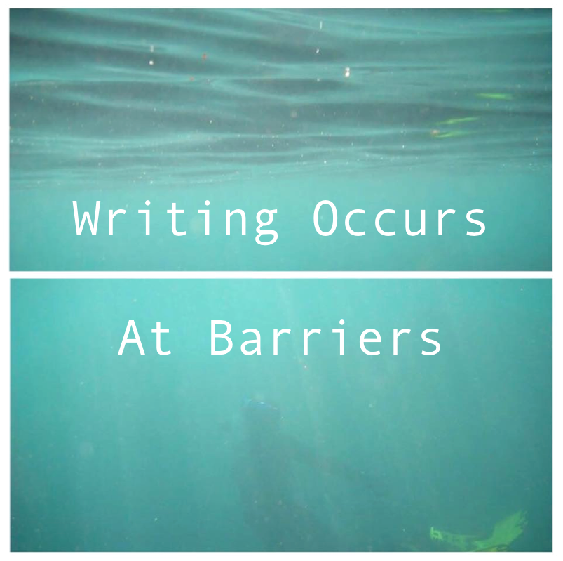 Writing occurs at barriers