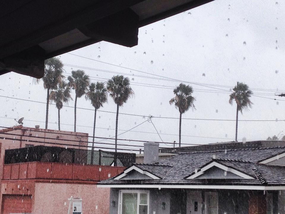 Rain in Long Beach