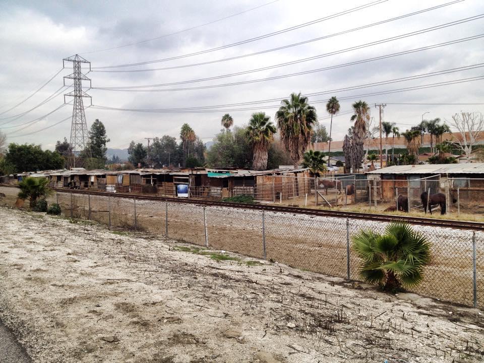Stables along San Gabriel River