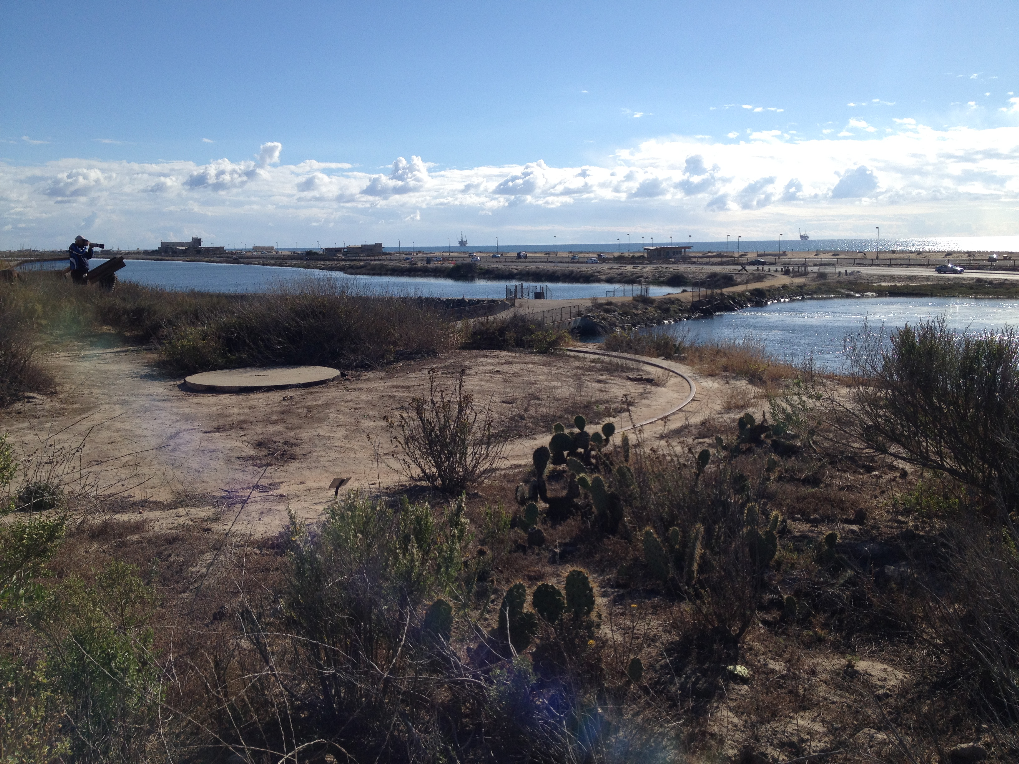 Gun mounts at Bolsa Chica