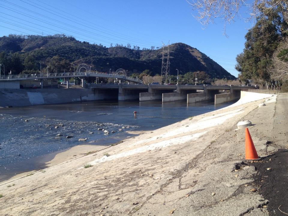 The LA River below Griffith Park